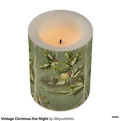 Vintage Christmas Eve Night Flameless Candle
