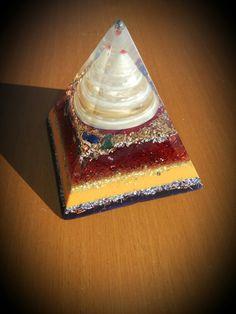 Orgonite pyramid Yellow Quartz, Birthday Candles, Decor, Decoration, Decorating, Deco