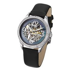 @Overstock - The Audrey freedom by Stuhrling is a classy, elegant women's watch. The stainless steel case on the satin covered leather strap features a skeleton dial displaying automatic movement. The dial boasts a black mother of pearl outer dial.http://www.overstock.com/Jewelry-Watches/Stuhrling-Original-Womens-Audrey-Freedom-Automatic-Skeleton-Watch/6783188/product.html?CID=214117 $117.22