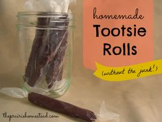 Homemade Tootsie Rolls (Without the Junk!) I'm sure one could use agave syrup or something else to replace the raw honey! ;)