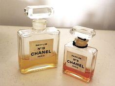 Vintage bottles of Chanel