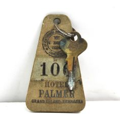 Old Hotel Key Fob from HOTEL PALMER in GRAND ISLAND NEBRASKA NB