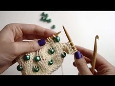 How to put beads on your knitwear | WE ARE KNITTERS - YouTube