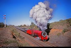 Net Photo: Class 26 No 3450 South African Railways Steam at Orange River, South Africa by David Benn Buses And Trains, Old Trains, South African Railways, Old Steam Train, Abandoned Train, Steam Railway, Railroad Photography, Train Engines, Train Journey