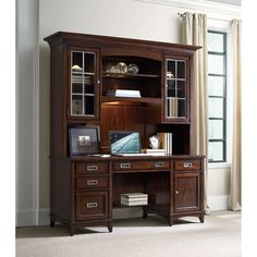 Hooker Furniture Latitude Computer Credenza with Desk Hutch HO-5167-10464-467