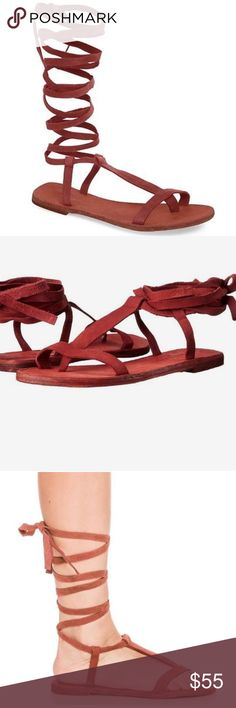 Free people dahlia sandals Free people lace up sandals Free People Shoes Sandals