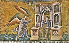 Pietro Cavallini. The Annunciation. Basilica di Santa Maria in Trastevere. Roma ITALY. 1291
