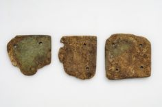 https://flic.kr/p/mKoR5r | Object from the exhibition We call them Vikings produced by The Swedish History Museum | Weaving tablets  Bone/antler  Weaving tablets were used when weaving ribbons, laces or belts.   Grave find, Broa, Halla, Gotland, Sweden. SHM 11987