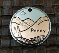 Custom Dog ID Tag Mountains by IslandTopCustomTags on Etsy, $35.00