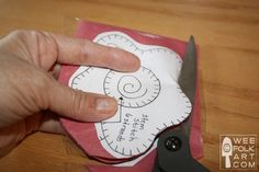 How To Cut Out Felt - REVISED   Wee Folk Art (Using packing tape, staples, etc.--it sounds counter-intuitive but they are great ideas.)