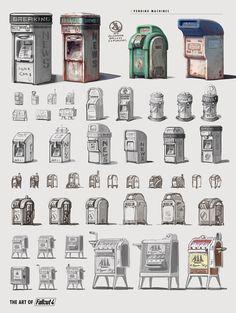 The Art of Fallout 4 - /// Vault 13 — ЖЖ Fallout 4 Concept Art, Fallout Art, Game Concept Art, Environment Concept Art, Environment Design, Prop Design, Game Design, Mode Steampunk, Acid Art
