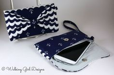 Hey, I found this really awesome Etsy listing at https://www.etsy.com/listing/215192981/nautical-phone-case-clutch-wristlet