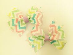 Pastel chevron spring pigtail bows. https://www.etsy.com/listing/225377740/set-of-2-pastel-chevron-spring-time?ref=shop_home_active_8