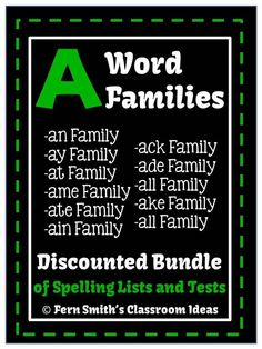 Spelling Eleven A Word Families Discounted Bundle of Lists and Tests #TPT $Paid