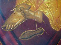 Ноги Byzantine Icons, Byzantine Art, Best Icons, Religious Icons, Painting Process, Orthodox Icons, Sacred Art, Christian Art, Virgin Mary