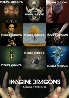 my collage in anticipation of Imagine Dragons' upcoming album, SMOKE + MIRRORS! Only a couple of weeks now!