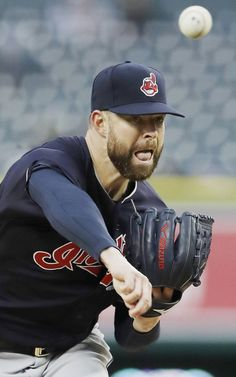 Cleveland Indians starting pitcher Corey Kluber throws during the first inning  against the Detroit Tigers, Tuesday, May 2, 2017, in Detroit. (AP Photo/Carlos Osorio) Kluber left the game early with stiff lower back