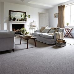 Grey Carpet Living Room Ideas Home Decoration Keep Warm In A Welcoming Rustic Lounge With Comforting Fireplace Cosy Interior Design. Grey Carpet Living Room, Grey Carpet Bedroom, Gray Carpet, Modern Carpet, Grey Bedrooms, Yellow Carpet, Brown Carpet, Carpet Diy, Best Carpet