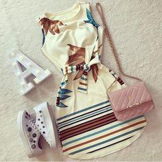 Summer Fashion Outfits, Cute Fashion, Stylish Outfits, Trendy Fashion, Cool Outfits, Fashion Dresses, Dress Outfits, Beautiful Casual Dresses, Cute Dresses