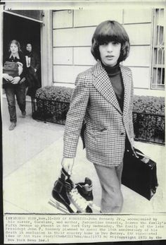 1973 John F Kennedy Jr with Caroline and Mother Press Photo | eBay