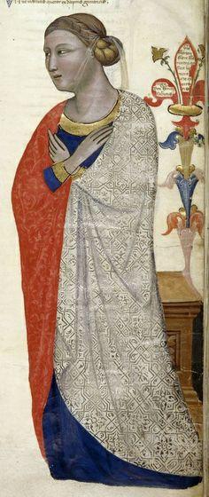 Illumanuca. 1335-1340 Italy (Tuscany) British Library Royal 6 E IX:  Regia Carmina (Address in verse to Robert of Anjou, King of Naples, from the town of Prato in Tuscany)
