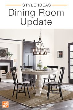 Update your dining room by investing in statement pieces like a classic dining set. Discover elegant chairs, timeless tables, and modern lighting to set the mood. Click to shop and explore all kitchen and dining room furniture from The Home Depot.