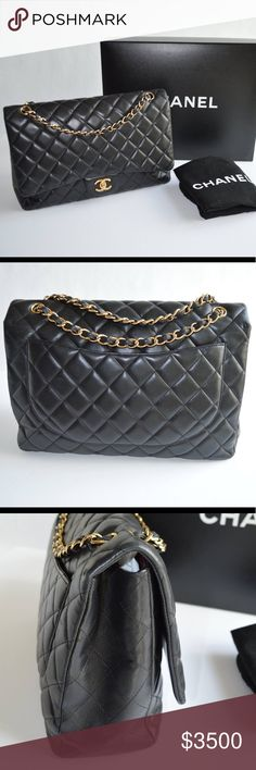7b353509778c Maxi Chanel Has visible signs of wear. Single flap CHANEL Bags Shoulder Bags  Chanel Bags