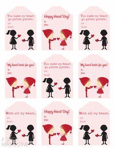 Cute Free Printable Tags for Valentines Day! #cookiepops #redvelvet #freeprintabletag