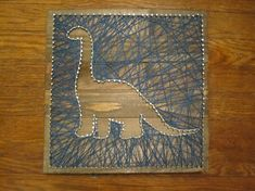 Dinosaur String Art by Llamarama585 on Etsy