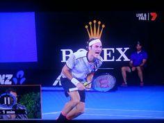 Rhett Bartlett @rhettrospective   When the slow-mo camera and the advertising sign align to perfection on the last point.  (Roger Federer, Australian Open 2017)
