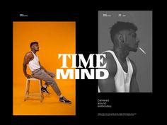 Time Mind Magazine by Hrvoje Grubisic - Dribbble Editorial Design Magazine, Magazine Layout Design, Book Design Layout, Print Layout, Editorial Layout, Yearbook Pages, Yearbook Layouts, Yearbook Spreads, Web Design