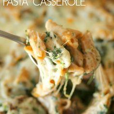 Spinach and Mushroom Pasta Casserole