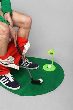 Toilet Golf Game. HAHAHAHAHHAHAHHA!!!!