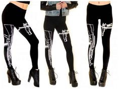 Guns Out Leggings...I'd feel like Lana in these (and look like Pam, lol)