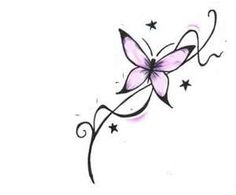 Butterfly Tattoo without the purple or the stars. Seems like this could blend nicely with my other one.