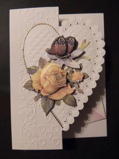 Gratulations kort med blommor i. 3D gjort av Cornelia