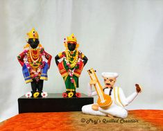 3D paper qulling vitthal rakhumai Quilling Dolls, Quilling Ideas, Quilling Designs, Paper Quilling, Quilling Tutorial, Newspaper Crafts, Quilling Techniques, 3d Paper, Projects To Try