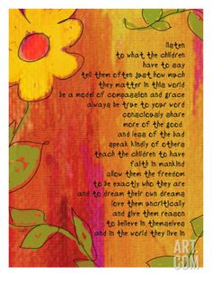 Listen to the Children - A Reason to Believe Print by Lisa Weedn at Art.com