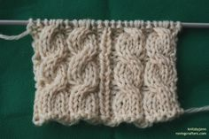 knit cables make without a cable needle