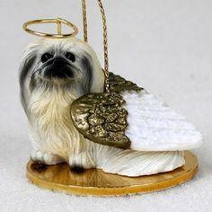 Pekingese Angel Ornament