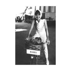 For Her Birthday 12 Shots Of Audrey Hepburn On A Bike found on Polyvore