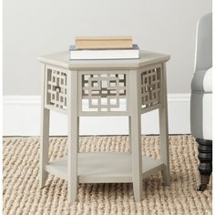 Safavieh Zelda Pearl Taupe End Table