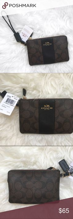 Coach wristlet  Coach wristlet. Super cute and great for holding all your cards and money. No trades and no PayPal. New with tags Coach Bags Clutches & Wristlets