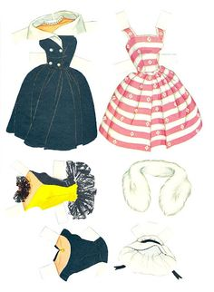 Friend of Barbie includes. Two dolls, one brown hair and one blonde;  Seven sheets of clothes and accessories. Midge Best Friend of Barbie Cut-Outs |  Artist: Al Anderson?  5 of 12