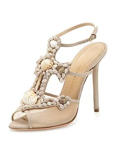 Charlotte Olympia Shore Thing Canvas Anchor Sandal