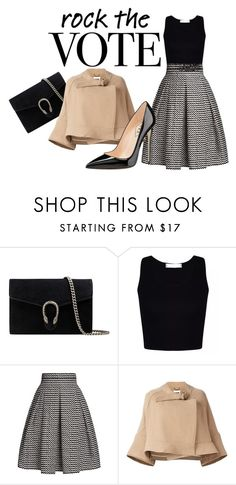 """""""Rock the Vote in Style"""" by game-of ❤ liked on Polyvore featuring Gucci, Rumour London and Chloé"""