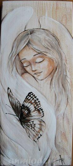 Anioł zimowy na bielonej desce   12 x 27             Anioł zmysłowy w fioletach   20 x 40           Anioł dziecięcy w krainie baśni   15 x ...