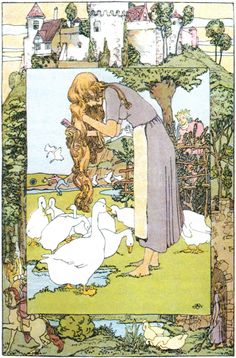 The Goose Girl -- Heinrich Vogeler -- Fairytale Illustration