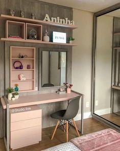 Room Design Bedroom, Girl Bedroom Designs, Home Room Design, Room Ideas Bedroom, Small Room Bedroom, Home Design Decor, Home Decor Bedroom, Bedroom Decor For Teen Girls, Teen Room Decor
