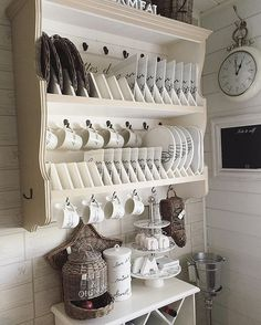 Attractive Small Kitchen Ideas For Big Taste Attractive Small Kitchen Ideas For Big TasteSpace іѕ a mаjоr соnѕtrаіnt іn mоѕt mоdеrn dау kіtсhеnѕ. Thіѕ іѕ thе reason whу it іѕ necess Kitchen Shelves, Kitchen Redo, Kitchen Storage, Kitchen Remodel, Kitchen Design, Kitchen Cabinets, Kitchen Ideas, Shabby Chic Kitchen, Rustic Kitchen